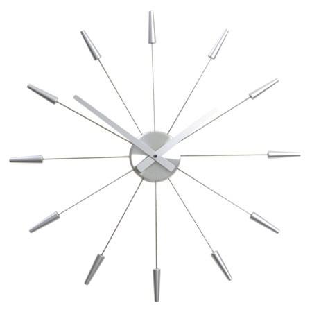 Stort sølv vægur - 60 cm